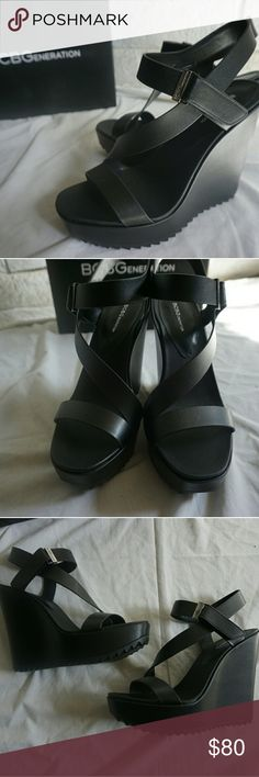 NEW WITH BOX SOFT ACTION LEATHER HEELS These black heels are mega cute and perfect for a night out. They are brand new and in perfect condition. BCBGeneration Shoes Heels