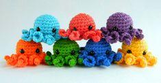 Crochet octopus set 7 rainbow baby toys. Crochet jellyfish amigurumi. Crocheted tiny octopus for montessori materials. Crocheted Jellyfish, Crochet Octopus, Tiny Octopus, Montessori Materials, Rainbow Baby, Shop Ideas, Educational Toys, Baby Toys, Happy Shopping
