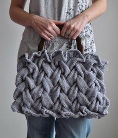 braided knitted bag...cool!