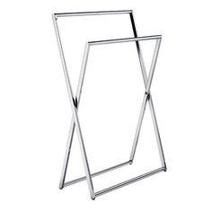 Freestanding Towel Rail in Polished Chrome Finish Bathroom Accessories, Home Accessories, Clothing Boutique Interior, Wall Mounted Towel Rail, Bathroom Towel Rails, Water House, Bathroom Fixtures, Home Renovation, Houses