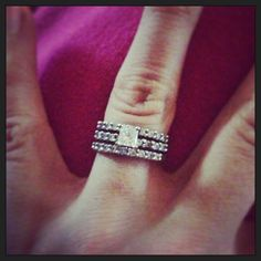 Love my wedding ring set. The two bands went perfect with my engagement ring. <3