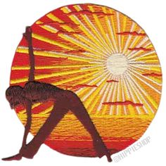 Zen Sunset Yoga  Patch