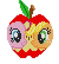 Apple To The Core perler bead pattern by indidolph on deviantART