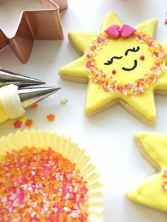 Smile sunshine sugar cookie with sprinkles