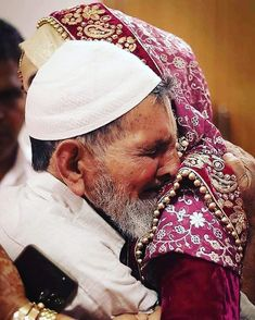 A Father's Tears And Fears Are Unseen His Love Is Unexpressed But His Care Is And Protection Remains As a Pillar Of Strength Throuthout Wedding Stills, Wedding Poses, Sister Wedding Pictures, Father Daughter Photography, Cute Baby Couple, Pakistan Bridal, Daughter Love Quotes, Islam Marriage, Muslim Couples