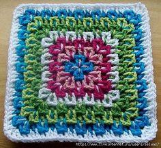 Gisa Presentes: tapetes, Passo a passo de como se faz este quadradinho.