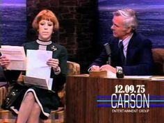 "Carol Burnett Reads Fans Letters on ""The Tonight Show Starring Johnny Carson"" - 1975"