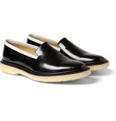 f4e2e1ee938 Adieu Type 7 Crepe-Soled Polished-Leather Loafers Leather Loafers