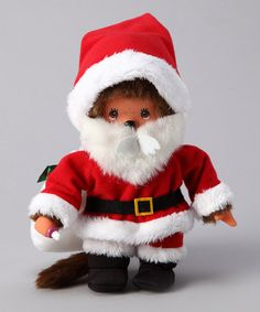 Take a look at this Santa Claus Monchhichi by Christmas in July: Toys on @zulily today!