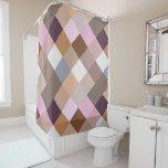 Pretty Provence Lavender Colors Mosaic Pattern Shower Curtain #weddinginspiration #wedding #weddinginvitions #weddingideas #bride