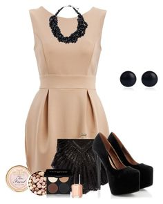 outfit by mkomorowski on Polyvore featuring polyvore fashion style AX Paris La Regale Pieces River Island Too Faced Cosmetics Gorgeous Cosmetics Essie clothing