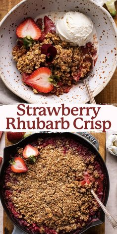 This gluten-free strawberry rhubarb crisp is the perfect summer baking recipe! It's bursting with sweet strawberries and tart rhubarb that are baked to perfection with a crumbly oat and almond topping. Serve with cold ice cream for the most delicious dessert duo! Check out this recipe HERE!