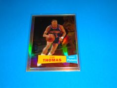2007-08 Topps Chrome Isiah Thomas 57-58 Variations Refractor /999 *PISTONS: Card is #96 (226/999).  All cards in NRMINT-MINT condition. Any questions feel free to ask.  FREE SHIPPING!!  All cards are put in a top loader and shipped in a bubble wrapper envelope!  Be sure and check my store on a regular basis to see what new items I have posted. THANK YOU!...