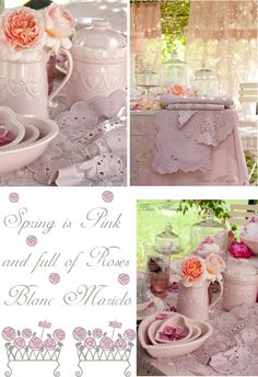 blanc mariclo country chic pink table in tuscany garden