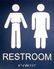 queer restroom - Transgender Bathroom Sign