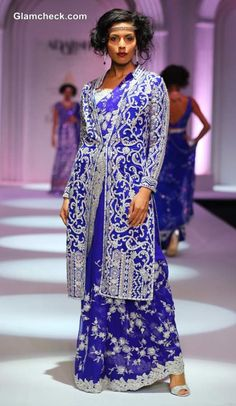 Long Jackets Paired With Saree - Adarsh Gill India Bridal Fashion Week 2013