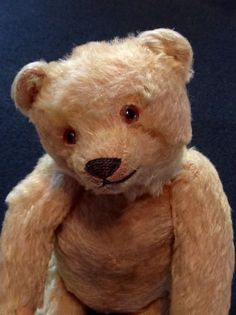 Antique Mohair Teddy Bear Excelsior Stuffed Glass Eyes Stitched Nose Humpback   eBay