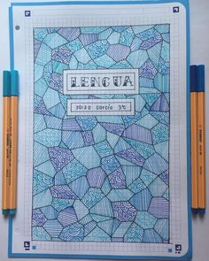 Patterns are incredibly beautiful and soothing to draw. Try one of these pattern cover page ideas in your next bullet journal monthly setup. Bullet Journal Notes, Bullet Journal Aesthetic, Bullet Journal School, Bullet Journal Ideas Pages, Bullet Journal Inspiration, Notebook Cover Design, Notebook Art, Notebook Covers, Journal Covers