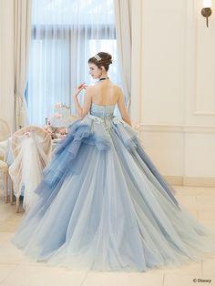 シンデレラ | プリンセスドレス | セカンドコレクション | ディズニー ウエディング ドレス コレクション Prom Dresses Blue, Ball Dresses, Cute Dresses, Ball Gowns, Girls Dresses, Disney Princess Dresses, Cinderella Dresses, Disney Dresses, Girl Dress Patterns