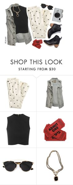 """~She's got Bette Davis eyes~"" by maloops ❤ liked on Polyvore featuring J.Crew, AllSaints, Topshop, WALL, Christian Dior, David Yurman, Kate Spade, summerstyle, summerbooties and summerboots"