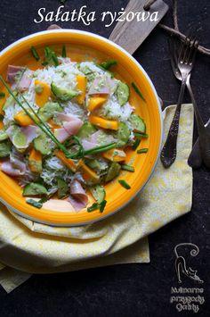 Kulinarne przygody Gatity: Sałatka ryżowa z mango i szynką