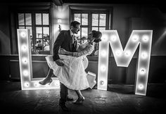 Top Tips: Lighting - lots of lighting ideas for your wedding, use it for decoration or for practical reasons, but don't forget it! Light Up Letters, Large Letters, Stage Lighting, Lighting Ideas, Wedding Photos, Wedding Ideas, Marquee Letters, Just Married, Wedding Supplies