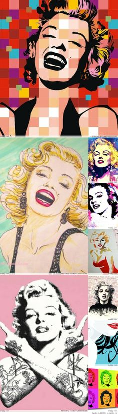@PinFantasy - Marilyn Pop Art ~~ For more:  - ✯ http://www.pinterest.com/PinFantasy/gente-~-marilyn-monroe-art/