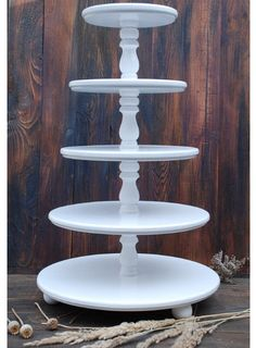 Wedding 5 tier Cake Stand Cupcake Stand Wooden White Wedding Cupcake stand Custom Cupcake Stand Wood Distress Cupcake Wedding, Stand for Cupcakes, Handmade cake stand White Wedding Cupcakes, Cupcake Stand Wedding, Floral Wedding Cakes, Wedding Cake Rustic, Wedding Cake Stands, Ivory Wedding, Wedding Table, Wedding Ideas, Floral Cake