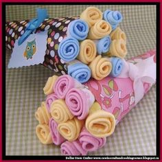 Dollar Store Crafter: DIY Wash Cloth Bouquet ~ Baby Shower Gift