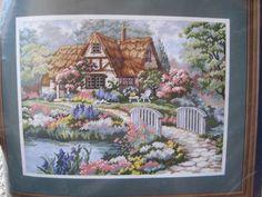 Needlepoint Kit Cottage Idyll Dimensions by KendallsCrochet