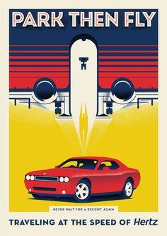 DDB New York: Hertz Corporation Print Ads Love that the plane looks like a rocket
