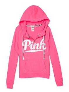 Perfect Full-Zip Hoodie PINK SF-348-742 (U71)   Victoria' Secret ...