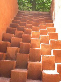 the most gorgeous steps... by Peter Handel, Francisco Toledo Art School