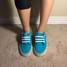 Blue Vans Cute lace up blue vans Vans Shoes Sneakers