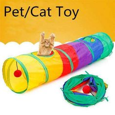 Funny Pet Tunnel Cat Play Tunnel Foldable 2 Holes Cat Tunnel With Ball Kitten Cat Toy Bulk Toy Rabbit Small animal Play Tunnel Kitten Toys, Cat Toys, Rabbit Tunnel, Play Tunnel, Cat Cave, Rabbit Toys, Cat Supplies, Large Animals, Cool Cats