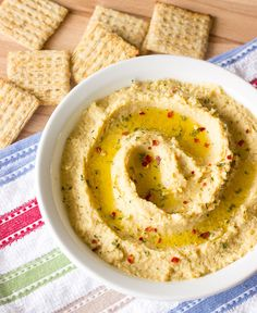 Simple Hummus Without Tahini (doubled the recipe and added some peanut butter, sesame oil and cilantro).  Great!