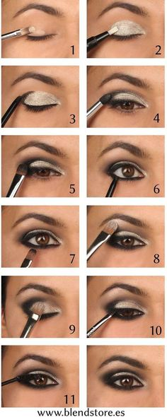 Makeup Ideas For Prom - Intense Metallic Smokey Eye Tutorial - These Are The Bes. Makeup Ideas For Prom - Intense Metallic Smokey Eye Tutorial - These Are The Best Makeup Ideas For Prom and Ho Eyeshadow Tutorial For Beginners, Smokey Eye Makeup Tutorial, Eye Tutorial, Eyeshadow Tutorials, Cut Crease Tutorial, Gothic Makeup Tutorial, Eyeliner Tutorial, Makeup Guide, Eye Makeup Tips