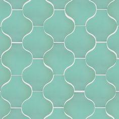 Santa Barbara Morocco: Light Teal Matte tile