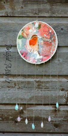 Décoration murale Little Robin Bijoux de mur  Rouge par MilYDdeFil