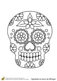 """Résultat de recherche d'images pour """"coloriage adulte tete de mort mexicaine"""""""