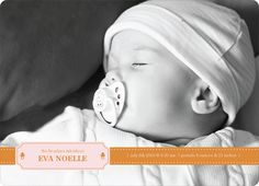 Binky Pacifier Baby Announcements by Paper Culture