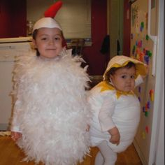 Which came first, the chicken or the egg?? Costumes I made for my kiddies a few years ago. :)