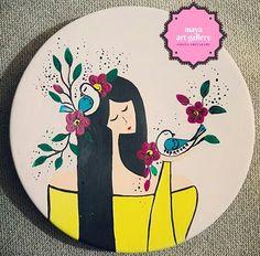 Painted Ceramic Plates, Hand Painted Ceramics, Ceramic Painting, Painting On Wood, Ceramic Art, Pottery Painting Designs, Paint Designs, Pottery Art, Letter Mugs