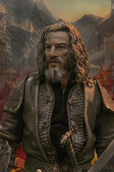 Luke Evans (Bard the Bowman) also plays Lord Girion (Bard's grandfather) in the Hobbit trilogy.