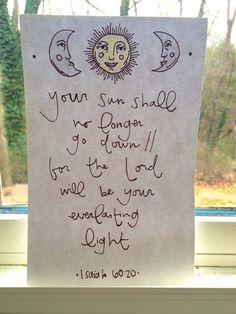 Your Sun Shall No Longer Go Down Original by liberatingsunshine