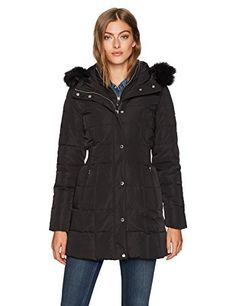 "Calvin Klein Fall 2017 Down Puffer Coat with Dramatic Faux Fur Trimmed hood   	 		 			 				 					Famous Words of Inspiration...""Our lives teach us who we are.""					 				 				 					Salman Rushdie 						— Click here for more from Salman...  More details at https://jackets-lovers.bestselleroutlets.com/ladies-coats-jackets-vests/down-parkas/down-down-alternative-down-parkas/product-review-for-calvin-klein-womens-long-down-puffer-coat-with-bib-and-faux-fur-collar"