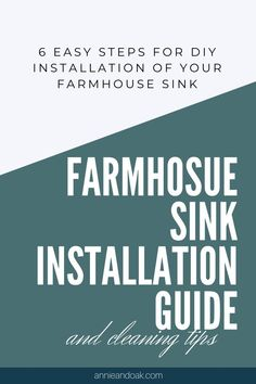 Farmhouse Sink Installation Guide by Annie and Oak Read our full installation guide with tips for professional kitchen sink installation that works with your countertop an. Fireclay Farmhouse Sink, Farmhouse Sink Kitchen, Kitchen Sinks, White Farmhouse Kitchens, Farmhouse Chic, Diy Kitchen Decor, Kitchen Interior, Kitchen Ideas, Fire Clay