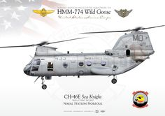 "UNITED STATES MARINE CORPS MARINE MEDIUM HELICOPTER SQUADRON 774 (HMM-774) ""Wild Goose"" Naval Station Norfolk"