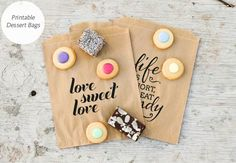 DIY: Print your own dessert wedding favor bag | The Pretty Blog | TheKnot.com