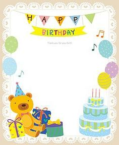 Happy Birthday Text, Birthday Thank You, Birthday Board, Birthday Wishes, Birthday Card Template, Borders For Paper, Holidays And Events, Clip Art, Creative